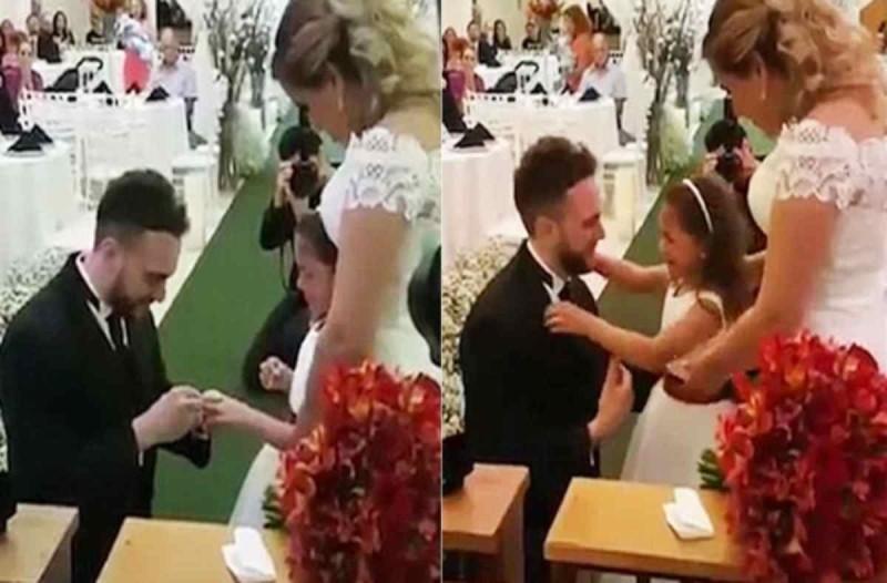 Συγκινητικό: 37χρονος γαμπρός φοράει δαχτυλίδι στη θετή κόρη του και της ζητάει γονατιστός να γίνει το παιδί του για πάντα