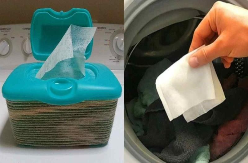 Δείτε τι κάνει στα ρούχα σας αν βάλετε ένα μωρομάντηλο μέσα στο πλυντήριο