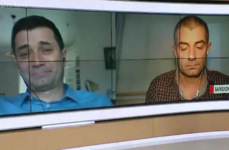 Συγκλονίζει Έλληνας γιατρός - Ξέσπασε σε λυγμούς ο αδελφός του όταν «συναντήθηκαν» στον αέρα εκπομπής (Video)