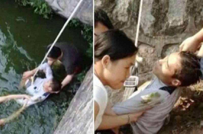 Αδιανόητο: Γαμπρός πέφτει στο ποτάμι μόλις είδε πόσο άσχημη ήταν η νύφη που του προξένευαν