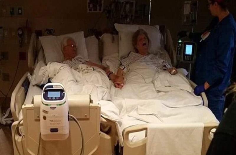 Έμεναν λίγες ώρες ζωής σε αυτό τον παππού και την γιαγιά - Μετά από 64 χρόνια μαζί της έπιασε το χέρι της και...