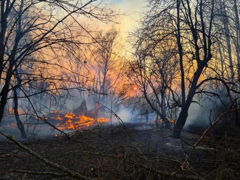 Τσερνόμπιλ φωτιά