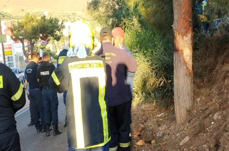 Σοκ στην Κρήτη: «Διπλό» πρωινό τροχαίο με ένα νεκρό - Αναποδογύρισε αυτοκίνητο με γυναίκα και παιδί στην καμπίνα