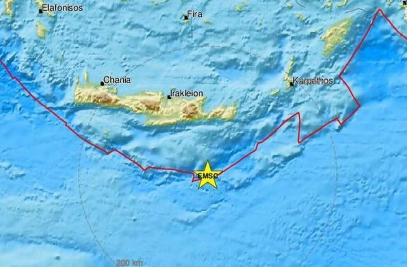 «Ταρακουνήθηκε» η Κρήτη - Νέος δυνατός σεισμός στο νησί