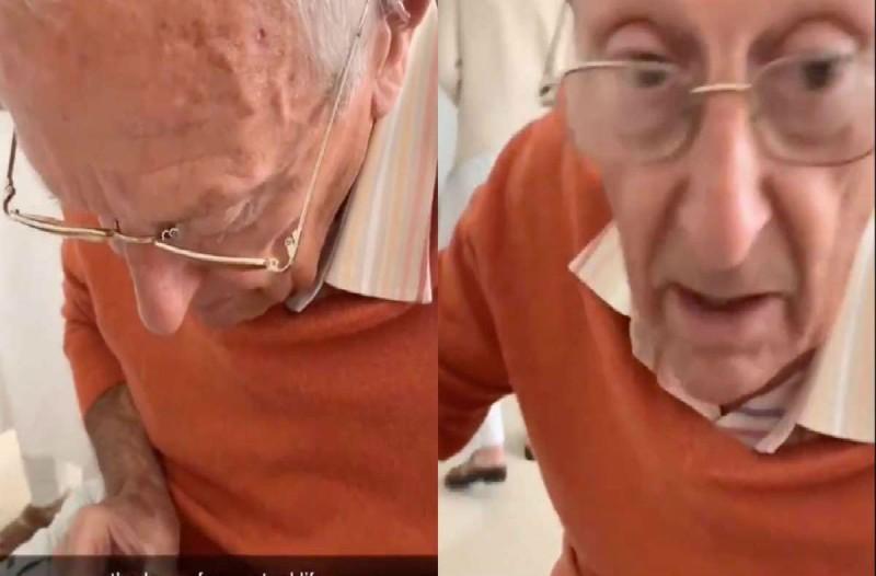 Αυτός ο παππούς κάθεται δίπλα στη χειρουργημένη εγγονή του - Αυτό που κάνει θα σας κάνει να