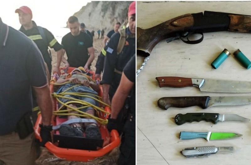 Βαριά οπλισμένος ο «δράκος της Κέρκυρας»: Οπλισμένη καραμπίνα, σουγιάδες και ηλιακούς φορτιστές - Σοκάρουν τα ευρήματα της αστυνομίας (photo-video)