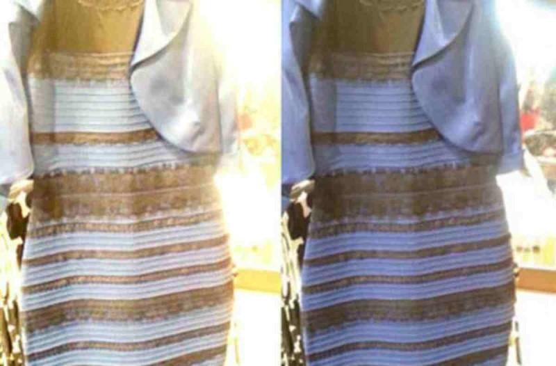 φόρεμα μπλέ και χρυσό