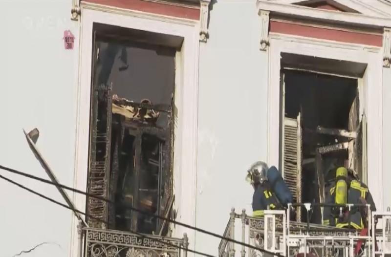 Συναγερμός: Φωτιά σε κτίριο στην οδό Σταδίου