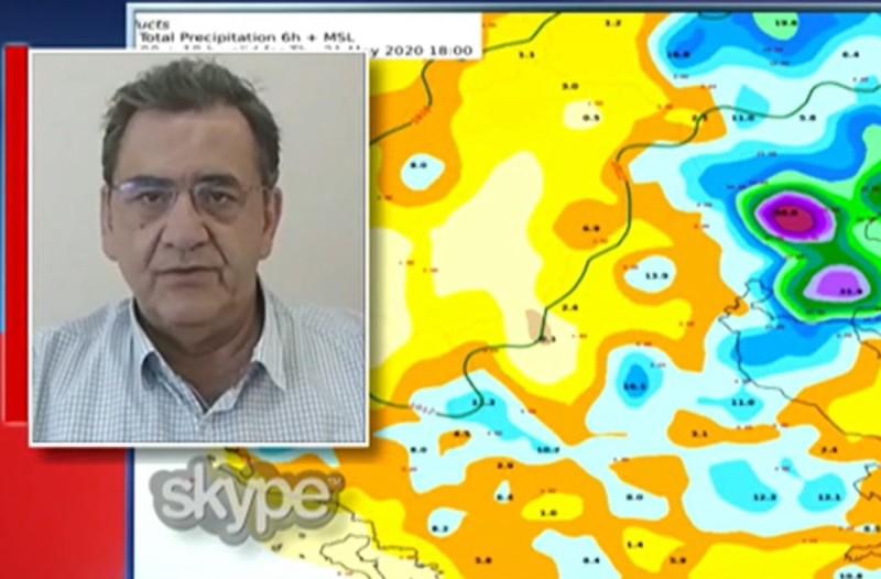«Οι καταιγίδες και το χαλάζι επεκτείνονται σε όλη την χώρα» - Πρόγνωση του καιρού από τον Θοδωρή Κολυδά