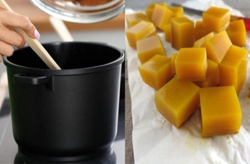 Κύβοι ζελατίνης με κουρκουμά και μέλι -