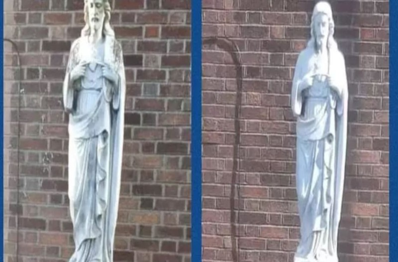 Άγαλμα της Παναγίας μετατράπηκε στον Ιησού - Οι κάτοικοι έχουν πάθει σοκ και μιλούν για θαύμα