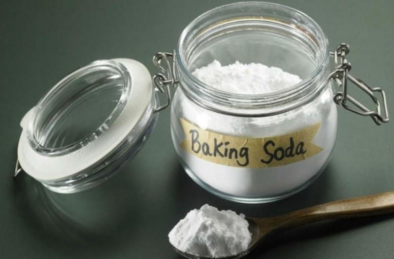 μαγειρική σόδα μαύρισμα