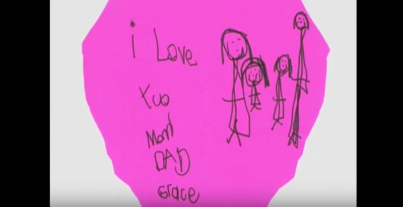 ζωγραφιά κοριτσιού για τους γονείς του