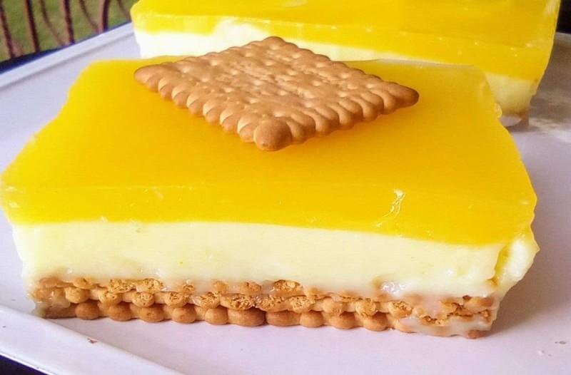 Η απόλυτη δροσιά σε ένα γλυκό ψυγείου με μπισκότα και πορτοκαλάδα