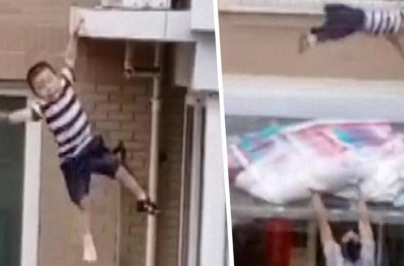 2χρονο αγοράκι πέφτει από τον 5ο όροφο: Δευτερόλεπτα αργότερα γίνεται το θαύμα