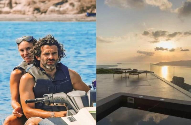 Πόσο; Τόσο κοστίζει μια βραδιά στο ξενοδοχείο του Φίλιππου Μιχόπουλου και της Αθηνάς Οικονομάκου στη Σαντορίνη
