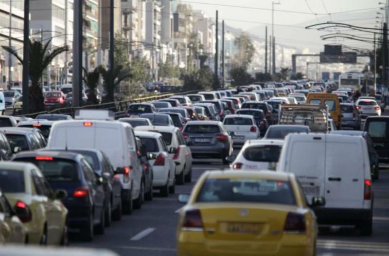 Μποτιλιάρισμα στο κέντρο της Αθήνας - Στο «κόκκινο» η κίνηση (photo)