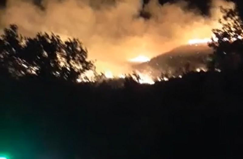 Μεγάλη φωτιά στην Κεφαλονιά (Video)
