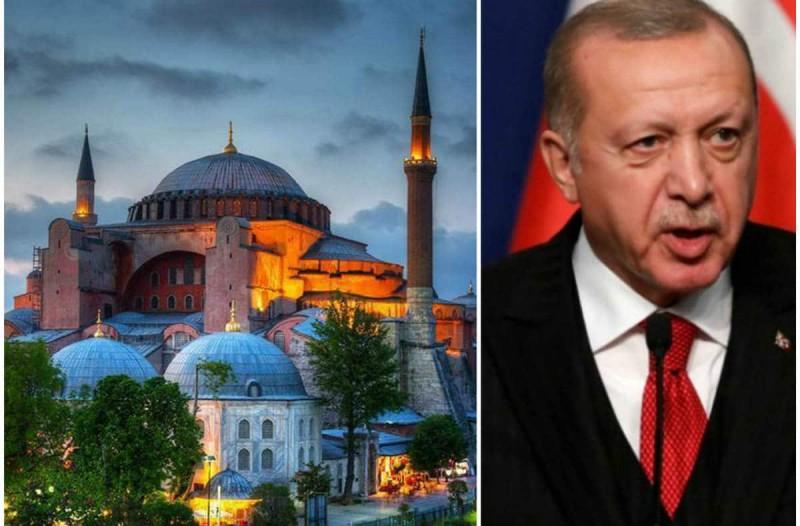 Αγία Σοφία - Προκλητικός ο Ερντογάν: Στις 24 Ιουλίου η πρώτη προσευχή, ημέρα υπογραφής της Συνθήκης της Λωζάνης