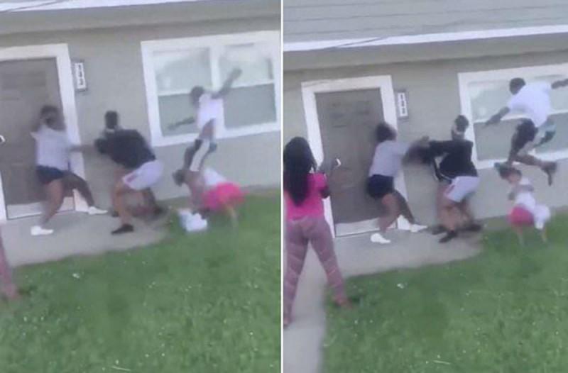 Άγριο ξύλο σε έγκυο μητέρα από 4 ανήλικους - Κλώτσησαν στο κεφάλι και το παιδί της που είχε μαζί της (Video)