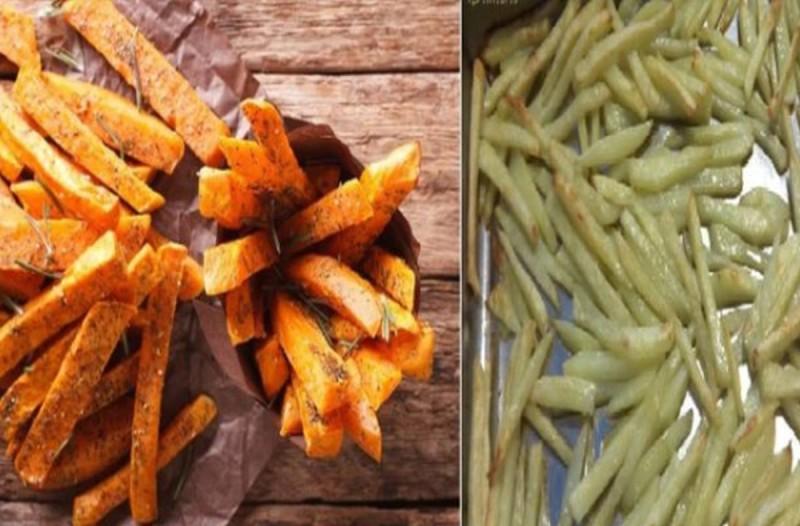 Πατάτες στον φούρνο σαν τηγανιτές χωρίς λάδι