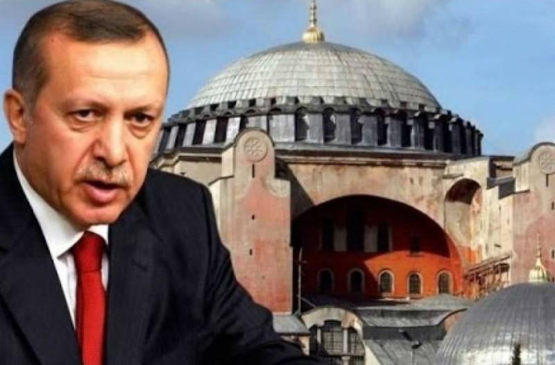 Απύθμενο θράσος από τον Ταγίπ Ερντογάν για την Αγιά Σοφιά: «Κανείς δεν μπορεί να...»