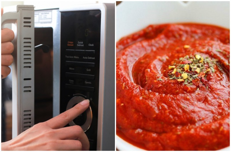 Βάζετε τη σάλτσα ντομάτας στο φούρνο μικροκυμάτων; Μην το ξανακάνετε ποτέ!