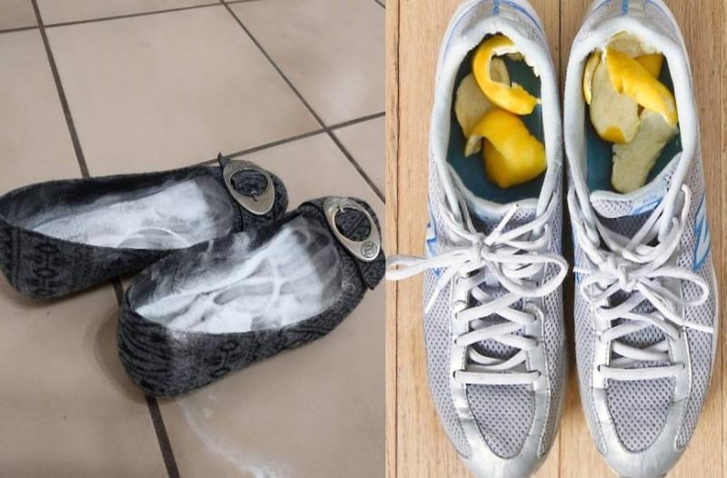 Παίρνει φλούδες λεμονιού και μαγειρική σόδα και τα βάζει μέσα στα παπούτσια: Τέλος στον εφιάλτη