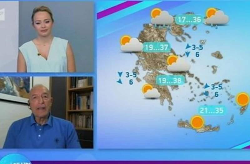 «Καυτή η τελευταία εβδομάδα του Ιουλίου» - Η πρόγνωση του Τάσου Αρνιακού για την εξέλιξη του καιρού (Video)