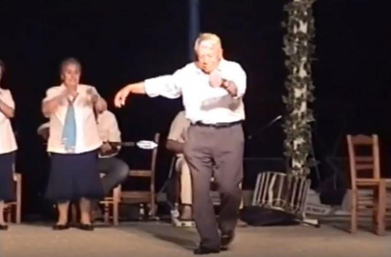 90χρονος παππούς χορεύει λεβέντικο ζεϊμπέκικο και