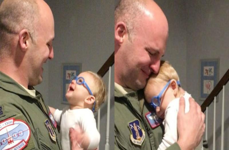 Μωρό με προβλήματα όρασης βλέπει για πρώτη φορά τον μπαμπά του - Η αντίδραση του θα σας κάνει να δακρύσετε
