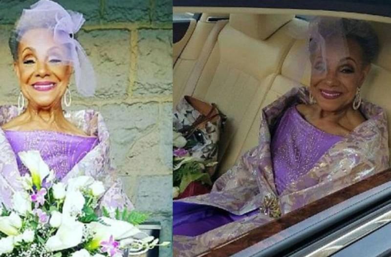 86χρονη γιαγιά παντρεύτηκε - Το νυφικό που φόρεσε στο γάμο της ήταν....