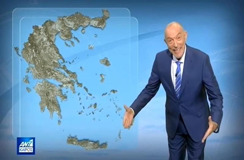 «Ψαλιδίζεται η ζέστη από...» - Πρόγνωση του καιρού από τον Τάσο Αρνιακό