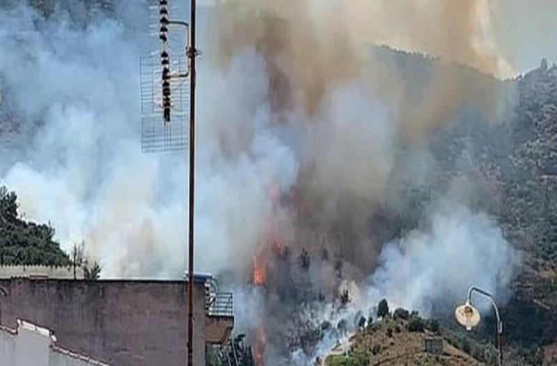 Φωτιά στην Αταλάντη - «Απειλεί» σπίτια