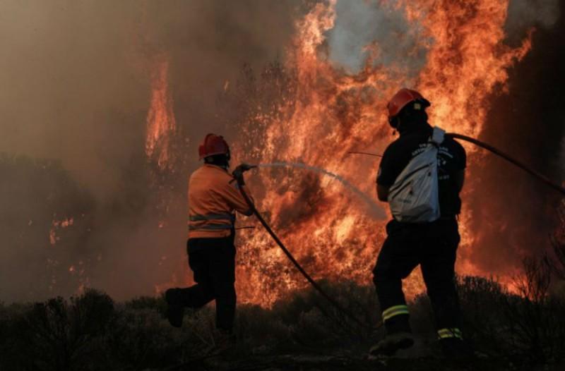 Μεγάλη φωτιά στον Κουταλά Κορινθίας (Video)