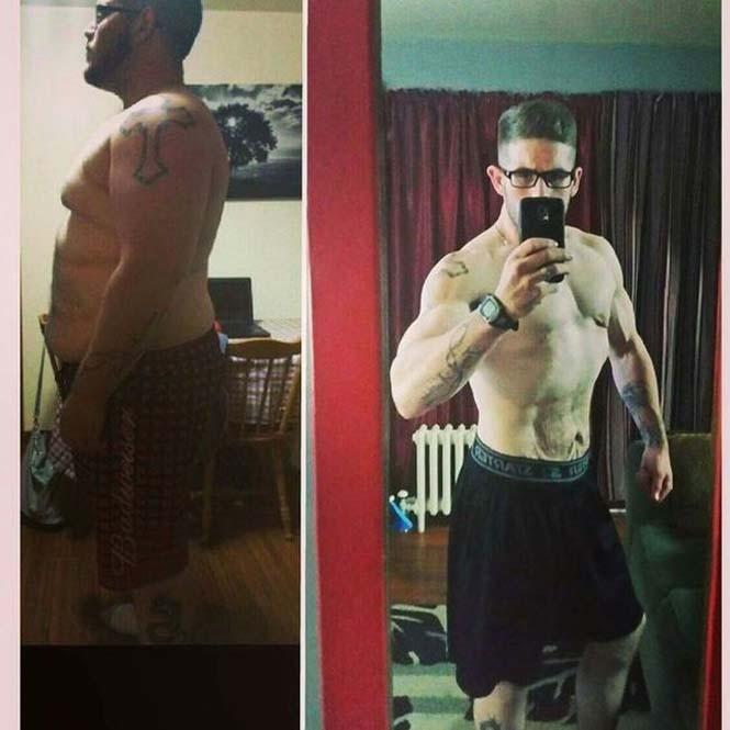 Άνδρας που έχασε κιλά πριν και μετά