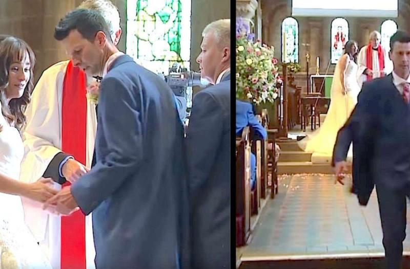 Η νύφη ήταν έτοιμη για το γάμο μέχρι που ο γαμπρός άρχισε να τρέχει έξω από την εκκλησία -  Δε φαντάζεστε