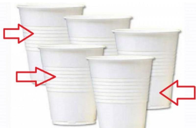 Δεν πάει το μυαλό σας: Γιατί τα πλαστικά ποτήρια μιας χρήσης έχουν γραμμές;