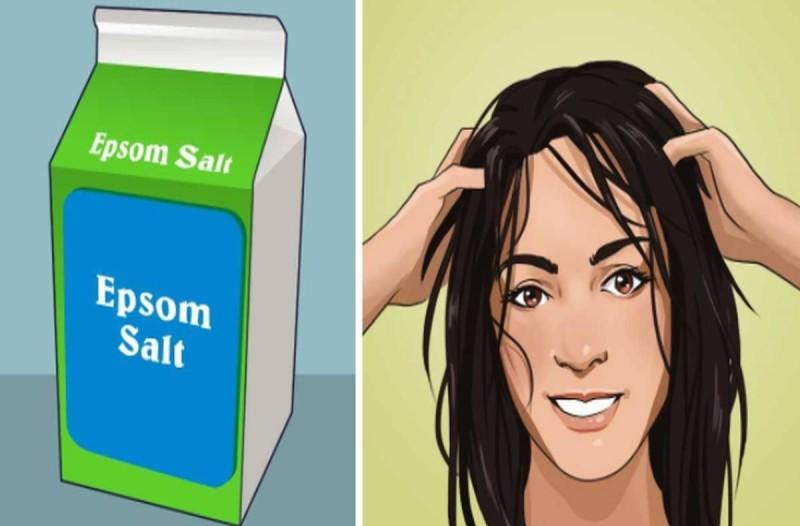 Μόλις δείτε τι συμβαίνει εάν τρίψετε με άλατα Epsom το κεφάλι σας, θα εκπλαγείτε!