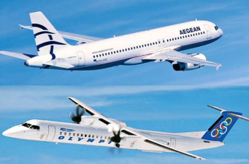Συναγερμός για 24 ώρες σε Aegean και Olympic Air