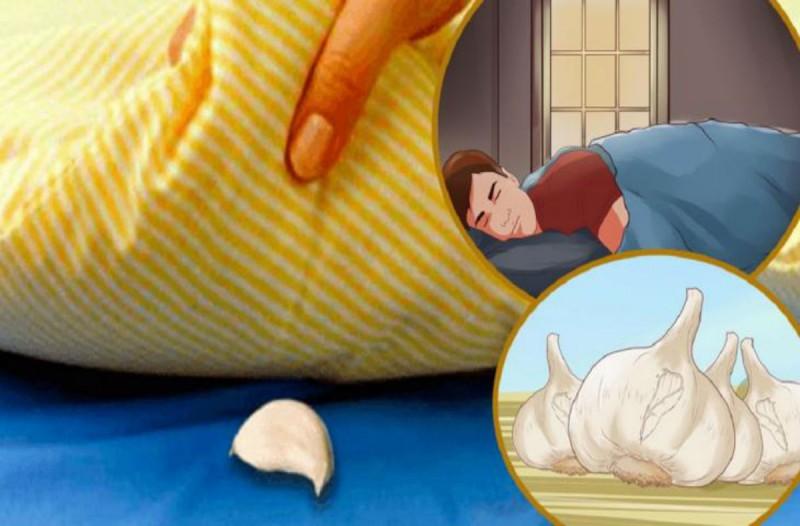 Ξυπνάτε κουρασμένοι; Βάλτε κάθε βράδυ σκόρδο κάτω απ' το μαξιλάρι και θα αλλάξει η ζωή σας