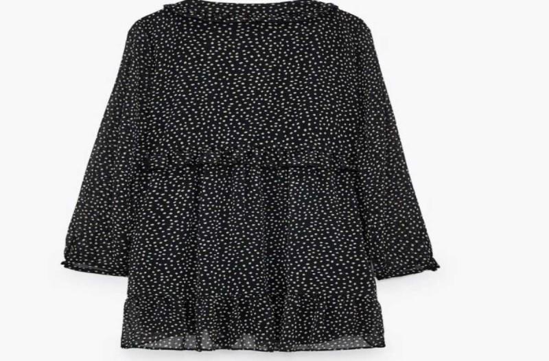 Φόρεμα ασπρόμαυρο μαύρο από τα καταστήματα ZARA
