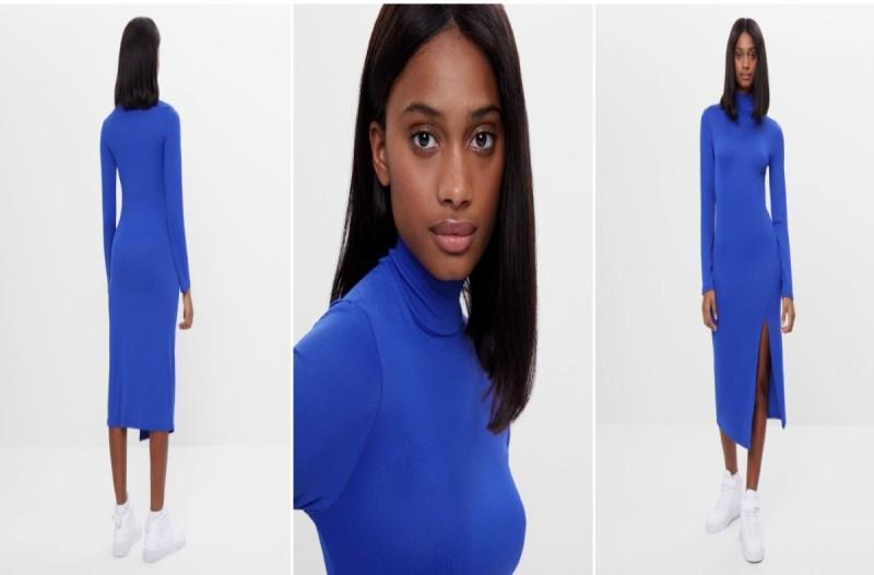 Φόρεμα Bershka μπλε