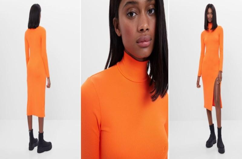 Φόρεμα Bershka πορτοκαλί