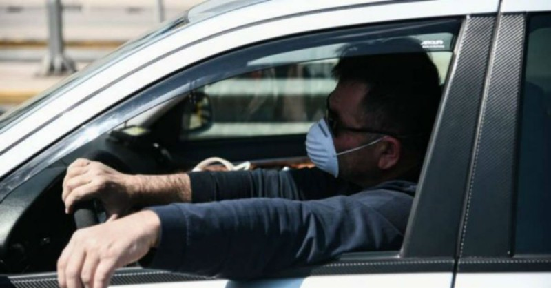 κορωνοϊός μάσκα αυτοκίνητο