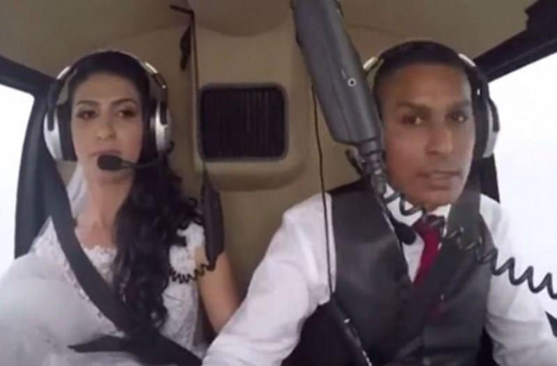 Η νύφη αποφάσισε να κάνει θεαματική είσοδο στο γάμο με ελικόπτερο - Λίγο πριν φτάσει στην εκκλησία...