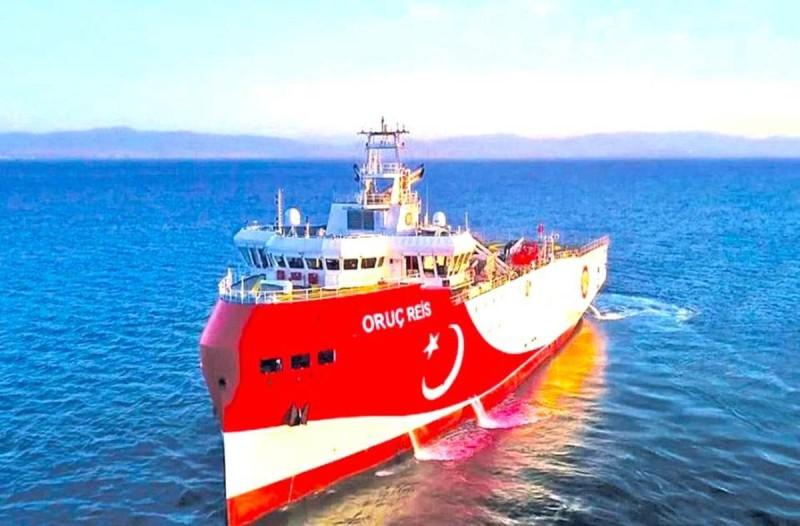 Νέα Navtex εξέδωσε η Τουρκία για το Oruc Reis - Μέχρι 27 Οκτωβρίου παρατείνονται οι έρευνες
