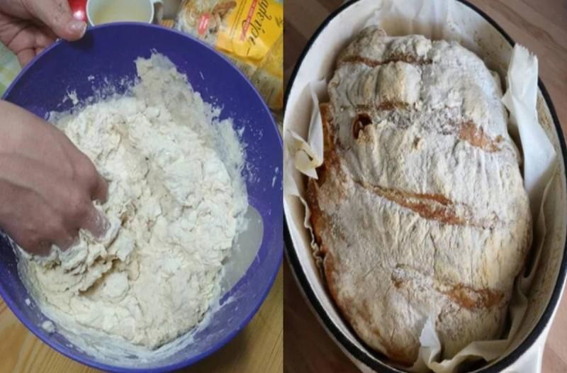 Σπιτική συνταγή για αφράτο ψωμί στη γάστρα χωρίς ζύμωμα, πιο νόστιμο και από ξυλόφουρνο