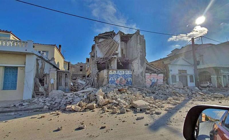 Σεισμός στη Σάμο καταστροφές