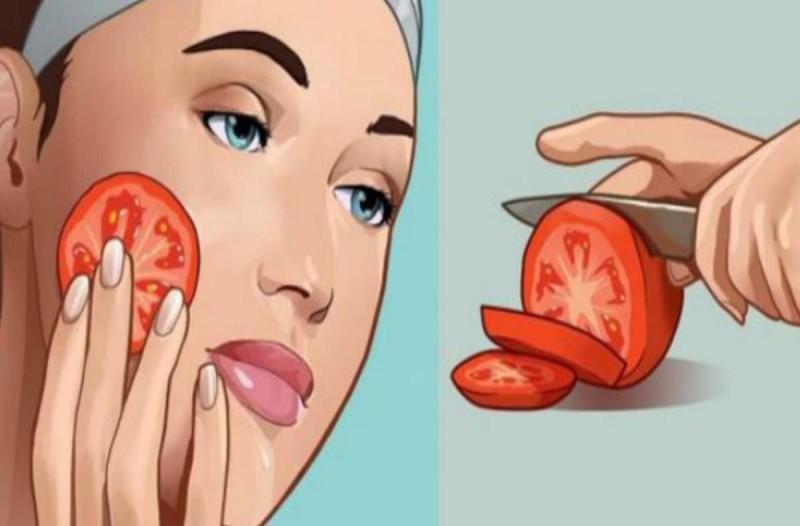 Βάλτε μια φέτα ντομάτας στο πρόσωπό σας και περιμένετε για 1 ώρα. Εκπληκτικό!
